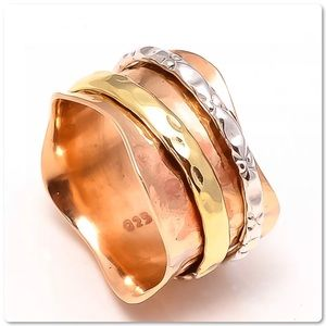 .925S Sterling Silver Spinner Ring